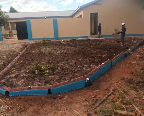 Außenanlagen werden neu angelegt